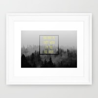 When the Skies are Gray Framed Art Print by RDelean