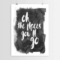 oh the places you will go,Instant download,Wall decor,Home decor,Typography art,Typographic print,Motivational poster,Travel quote,Word art