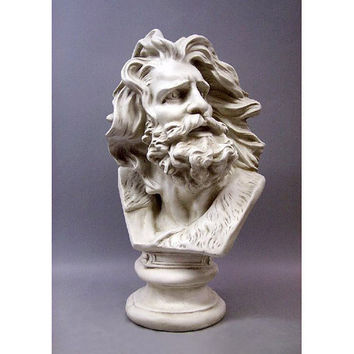 Moses Zeus or Arc de Triomphe Face Energetic Expression Statue Bust 24H
