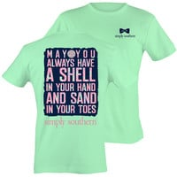 Simply Southern Preppy Shell And Sand Beach T-Shirt