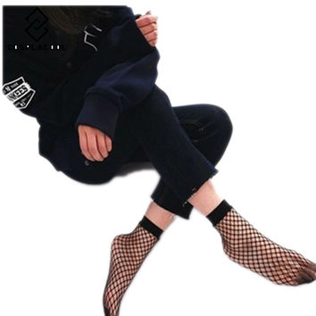 [COSPLACOOL]2017 Harajuku goth punk series cool female essential hollow fashion Sexy Fishnet Socks Women/Ladies Sox Meias