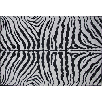 Fun Rugs Supreme Collection Zebra Skin Area Rug