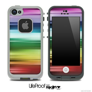 Neon Horizontal Colors Skin for the iPhone 5 or 4/4s LifeProof Case