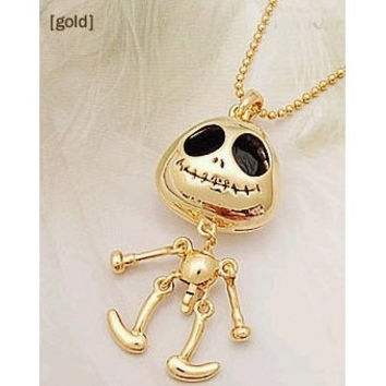 Skeleton Necklace Gold Skeleton Jewelry Skull Necklace Skull Pendant Skeleton Pendant Jack Skellington Necklace Robot Necklace Skeleton Body