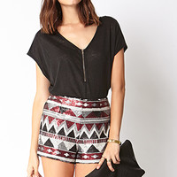 Striking Zigzag Shorts