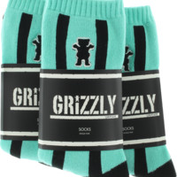Grizzly Gram Crew Socks Diamond Blue 3Pr Bundle
