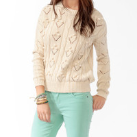 Pom Pom Cable Knit Sweater