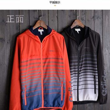 "Fashion ""ADIDAS"" Hooded Zipper Cardigan Sweatshirt Jacket Coat Windbreaker Sportswear [11023176775]"