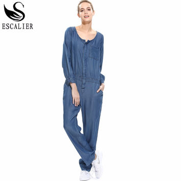 New Arrival 2016 Jumpsuits Jeans European Style Women Jumpsuit Denim Overalls Rompers Girls Pants XS-XXL Bodysuit Free Shipping