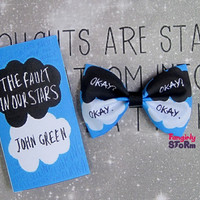 The Fault in our Stars by John Green Hair Bow or Bow tie Geeky Kawaii Fabric Bow