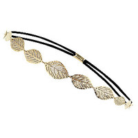 Cream Leaf Elastic Hair Band