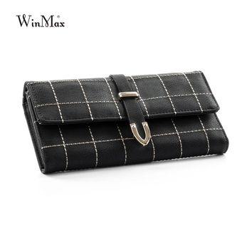 European and American Style Ladies Gifts Vintage Fashion Hand Purse Retro Long Clutch Women Casual Hasp PU Leather Purse Wallet