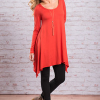 Chart Topping Tunic L/S, Orange
