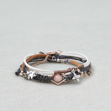 AEO Blush and Gray Arm Party , Mixed Metal
