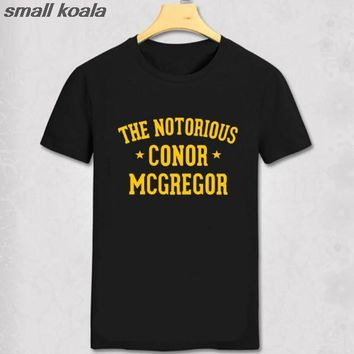 The Notorious Conor McGregor Men T shirt New Fashion Casual Funny Shirt For Man White Black Top Tee Hipster Street clothes