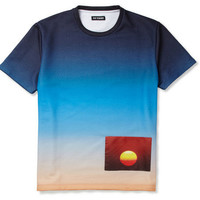 Raf Simons Printed Loopback Cotton-Blend Jersey T-Shirt | MR PORTER