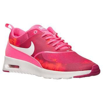 Nike Air Max Thea Print Shoes - Pink Pow / White / Fireberry - Bedazzled with 100% Aut