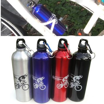 2018 New Cycling 750ML Bike Water Bottle Random Color Straw Drink Sport Gym Bicycle Cycling Hiking Water Bottle Drop shipping!