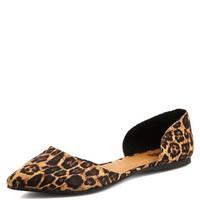 Satin Leopard D'Orsay Flat: Charlotte Russe