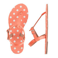 Girls' patent T-strap sandals in polka dot - flip-flops & sandals - Girl's shoes - J.Crew