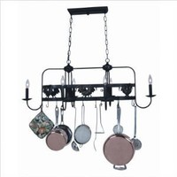 Artcraft Lighting AC1796EB Pot Racks 6-Lite Island Light, Black