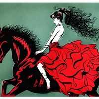 """Red Rider"" - Art Print by Carlos Lara"