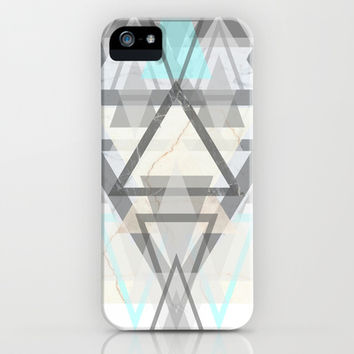 three marble iPhone & iPod Case by austeja saffron
