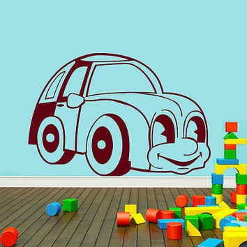 Wall Decals Car Auto Machine Decal Nursery Boy Room Bedroom Vinyl Decor MR430