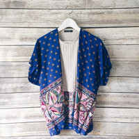 Key To My Heart Kimono (Royal Blue)