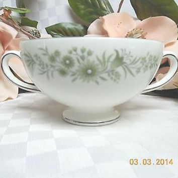 Wedgwood White China Dinnerware WestBury Pattern #: R4410 Handled Cream Soup Cup