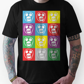 Mighty Boosh Face Warhol Style - White Unisex T-Shirt