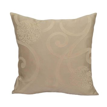 """Drapery/Acrylic Floral/Leaves Pattern 20""""x20"""" Pearl Cream Pillow Case/Cushion Cover"""
