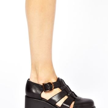 Vagabond Dioon Black Leather Heeled Shoes at asos.com