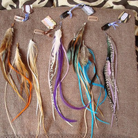 Bespoke Feathered Adornments Clip~In Hair Extensions Medicine Jewelry