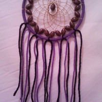 Purple/Black/Gold Football Dream Catcher - Team Spirit - 4 inches in diameter - Handmade