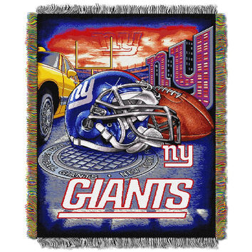 New York Giants NFL Woven Tapestry Throw (Home Field Advantage) (48x60)