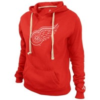 Alta Gracia Detroit Red Wings Ladies ALT Fleece Pullover Hoodie - Red