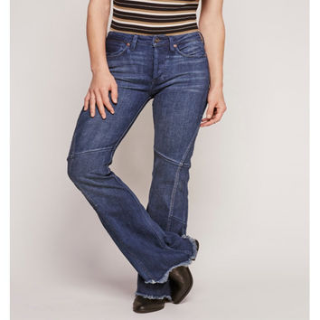Free People Hug Me Tight Patchwork Flare Jeans
