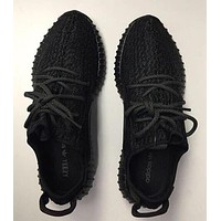 """Adidas"" Yeezy Boost Popular Women Men Sneakers Running Sports Shoes Black I"