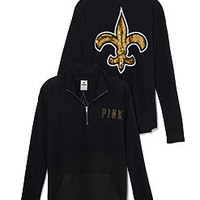 New Orleans Saints Bling Half Zip Pullover - PINK - Victoria's Secret