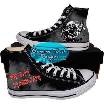 DCCK1IN custom converse iron maiden iron maiden shoes life after death custom chucks pain