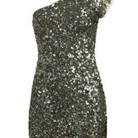 One Shoulder Sequin Tunic