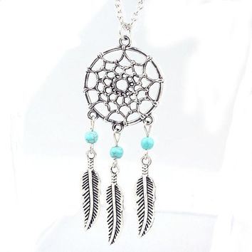 SUSENSTONE Fashion Retro Jewelry Dream Catcher Pendant Chain Necklace