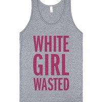 White Girl Wasted (Pink Tank)-Unisex Athletic Grey Tank