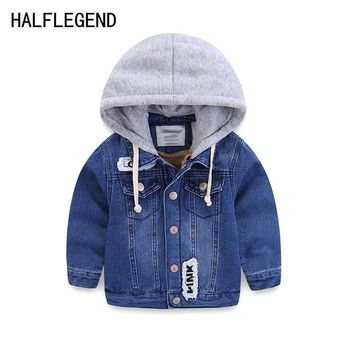 Coat for boy Children's outerwear boys winter jacket thick denim jacket for baby boys 2-3-4yrs warm clothes for boys 8-9-10years