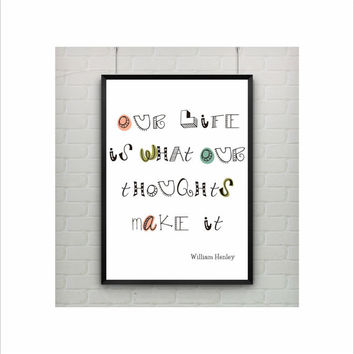 Inspirational Quote Print / US Letter and A4 up to A0 size / Illustration Print / Motivational Art / Inspirational Art / Kids Room Decor