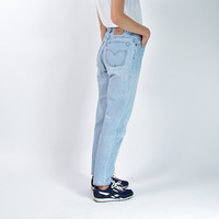 90s LEVI'S 550 Relaxed Fit Tapered Leg Women Jeans / Made in Canada / American Denim Workwear/ Mom Jeans / Size 10 - M