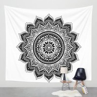Mandala Square Beach Tapestry Hippie Throw Yoga Mat Towel Indian Blanket