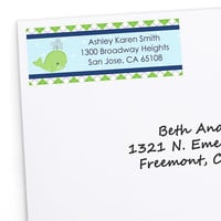Baby Shower Return Address Labels - Tale Of A Whale