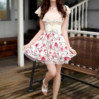 Fashion New Arrival Korean Style Short Sleeves Dress